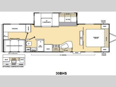 Floorplan - 2013 Coachmen RV Catalina Deluxe Edition 30BHS