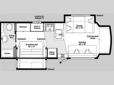 Floorplan - 2006 Itasca Cambria 29H