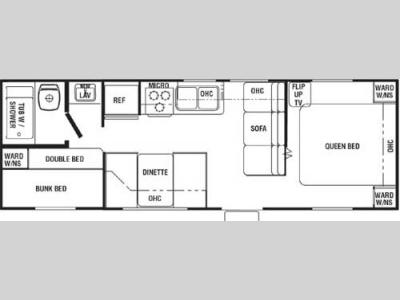 Floorplan - 2003 Forest River RV Cherokee Lite 28 DD