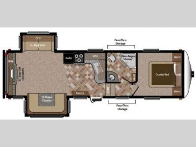 Floorplan - 2013 Keystone RV Sprinter Copper Canyon 273FWRET