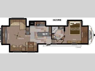 Floorplan - 2013 Keystone RV Montana 3625 RE