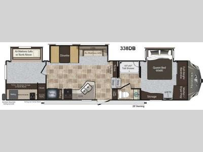 Floorplan - 2013 Keystone RV Montana High Country 338DB