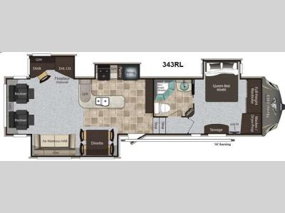 Floorplan - 2013 Keystone RV Montana High Country 343RL