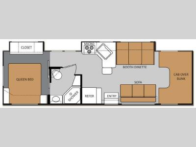 Floorplan - 2013 Thor Motor Coach Four Winds 31F