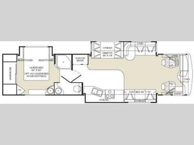 Floorplan - 2006 Fleetwood RV Bounder Diesel 38S