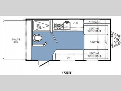 Floorplan - 2013 Coachmen RV Clipper Ultra-Lite 15RB