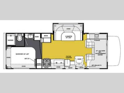 Floorplan - 2013 Forest River RV Sunseeker 2450S Ford