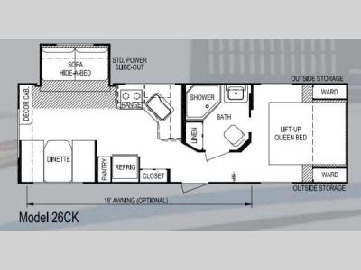 Floorplan - 2013 Skyline Koala 26CK