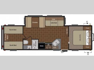 Floorplan - 2013 Keystone RV Summerland 2980BHGS