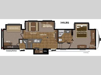 Floorplan - 2013 Keystone RV Mountaineer 346LBQ