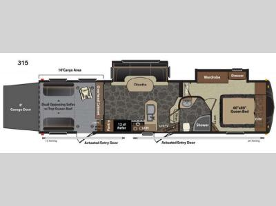 Floorplan - 2013 Keystone RV Fuzion 315