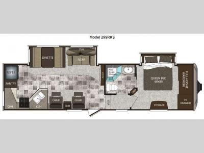 Floorplan - 2013 Keystone RV Cougar High Country 299RKS
