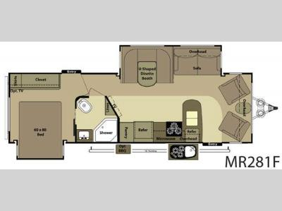 Floorplan - 2012 Open Range RV Mesa Ridge MR281F