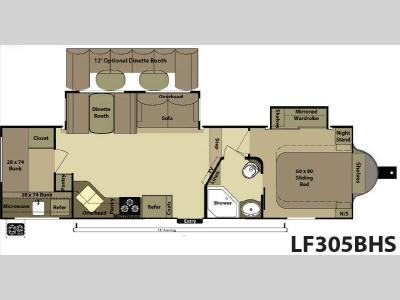 Floorplan - 2013 Open Range RV Light LF305BHS