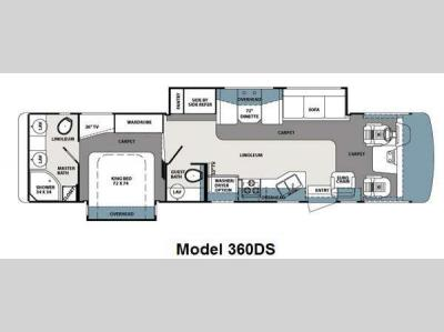 Floorplan - 2013 Forest River RV Georgetown XL 360DSF