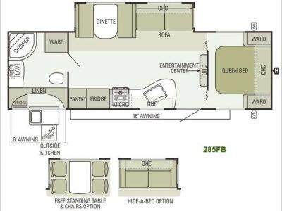 Floorplan - 2013 Starcraft  Travel Star 285FB
