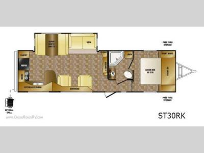 Floorplan - 2013 CrossRoads RV Sunset Trail Reserve ST30RK
