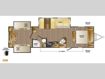 Floorplan - 2013 CrossRoads RV Sunset Trail Reserve ST32FR
