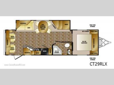 Floorplan - 2013 CrossRoads RV Cruiser CT29RLX
