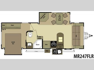 Floorplan - 2013 Open Range RV Mesa Ridge MR247FLR