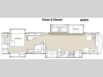 Floorplan - 2013 Coachmen RV Sportscoach Cross Country 405FK