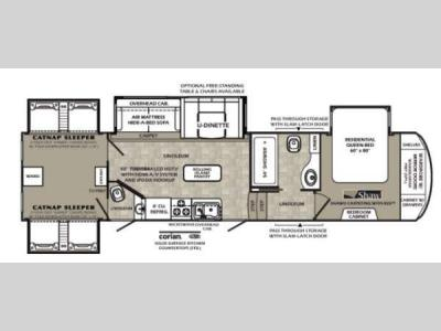 Floorplan - 2013 Forest River RV Wildcat 344QB