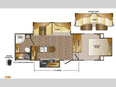Floorplan - 2013 CrossRoads RV Sunset Trail Reserve SF26RB