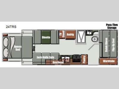Floorplan - 2013 Gulf Stream RV Streamlite Sport 24 TRS