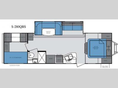 Floorplan - 2013 Cruiser Shadow S-280QBS