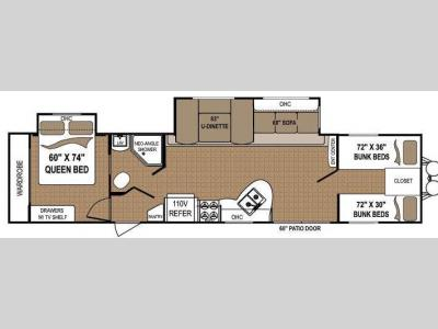 Floorplan - 2013 Dutchmen RV Aspen Trail 3600QBDS