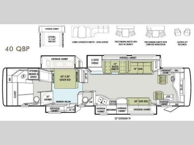 Floorplan - 2013 Tiffin Motorhomes Allegro Bus 40 QBP