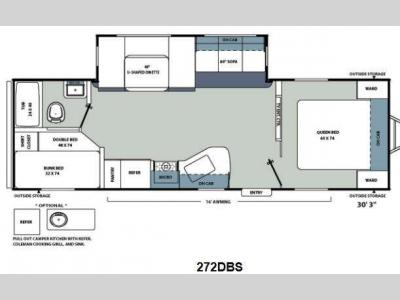 Floorplan - 2013 Coachmen RV Catalina Santara Series 272DBS