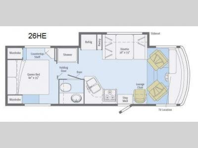 Floorplan - 2013 Winnebago Vista 26HE