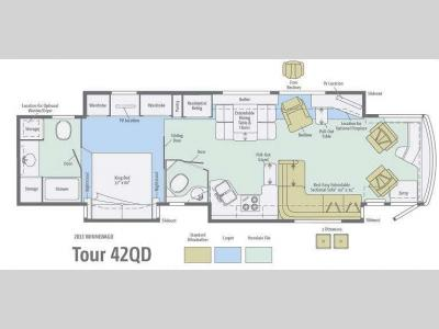 Floorplan - 2013 Winnebago Tour 42QD