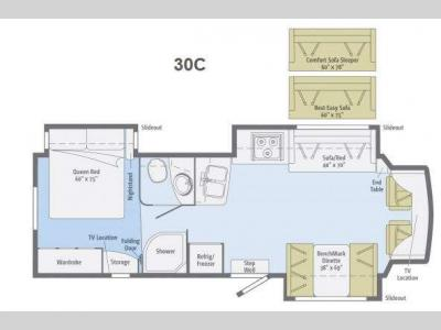 Floorplan - 2013 Winnebago Aspect 30C