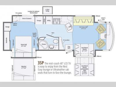 Floorplan - 2013 Winnebago Adventurer 35P