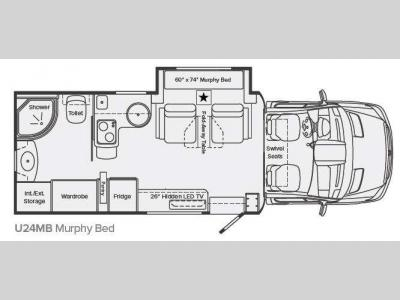 Floorplan - 2013 Leisure Travel Unity U24MB