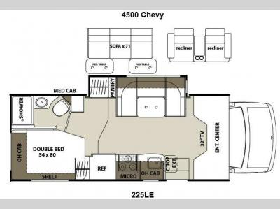 Floorplan - 2013 Coachmen RV Concord 225LE Chevy