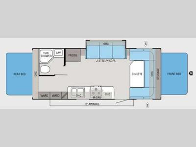 Floorplan - 2013 Jayco Jay Feather Ultra Lite X23B