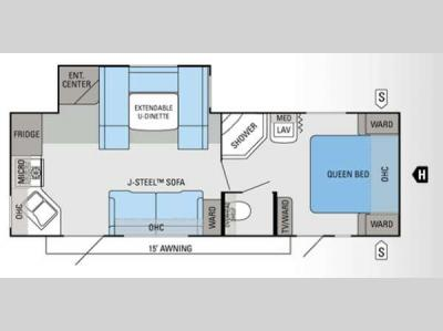 Floorplan - 2013 Jayco Jay Flight 25RKS