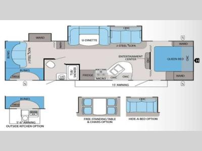 Floorplan - 2013 Jayco White Hawk 31DSLB