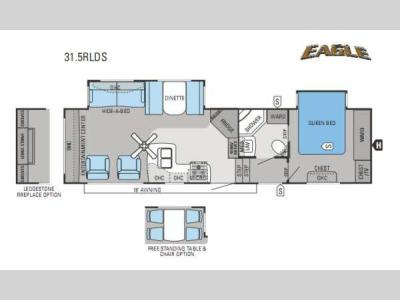 Floorplan - 2013 Jayco Eagle 31 5RLDS