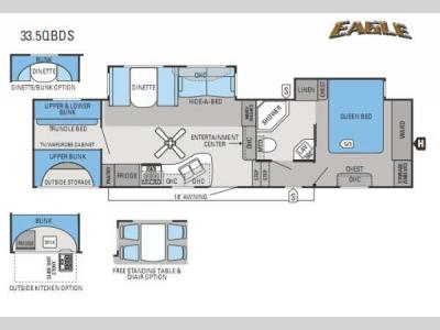 Floorplan - 2013 Jayco Eagle 33 5QBDS