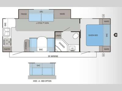 Floorplan - 2013 Jayco Eagle 266RKS