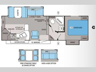 Floorplan - 2013 Jayco Eagle HT 26 5RKS