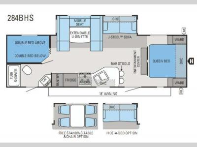 Floorplan - 2013 Jayco Eagle 284BHS