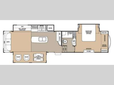 Floorplan - 2013 Forest River RV Cedar Creek 36CKTS