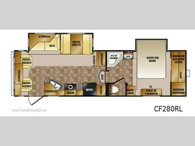 Floorplan - 2013 CrossRoads RV Cruiser Sahara CF280RL