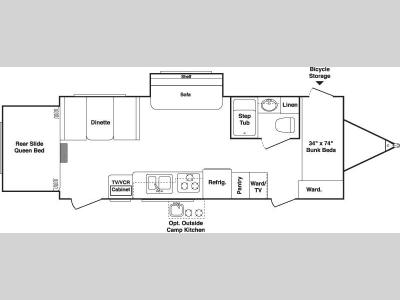 Floorplan - 2007 Keystone RV Outback 25RS-S