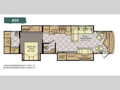 Floorplan - 2013 Fleetwood RV Discovery 40E